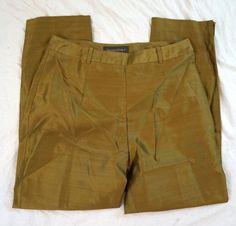 Banana Republic Silk Straight Leg Womens Gold Pants Size 10 NWT (R10#607) #BananaRepublic #DressPants Gold Pants, Denim Branding, Big Star, Dress Pants, Banana Republic, Casual Shorts, Pants For Women, Size 10, Legs
