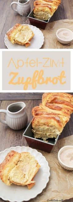Apple-cinnamon plucked bread - crispy and airy at the same time- Apfel-Zimt-Zupfbrot – kross und luftig zugleich C&B with Andrea – Apple Cinnamon Bread – Recipe – - Apple Cinnamon Bread, Cinnamon Apples, Apple Bread, Cinnamon Recipe, Apple Pie, Banana Bread, Brunch Recipes, Sweet Recipes, Dessert Recipes