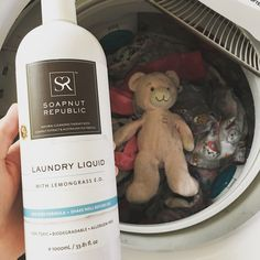 Even Teddy needs an occasional bath. Safe for machine washing with Soapnut Republic's non-toxic, allergen free Laundry Liquid. #soapnutrepublic #soapnuts #laundryliquid #laundry #teddybear #nontoxic #allergenfree #sensitiveskin #biodegradable #ecofriendly #familyfriendly #naturalproducts #naturalcleaning #greenproducts #greencleaning #vegan #crueltyfree #healthyliving #healthyfamily #healthyhome #babyproducts #babylaundry