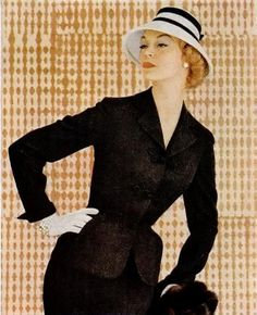 Jean Patchett, 1955. | More fashion lusciousness here: http://mylusciouslife.com/photo-galleries/historical-style-fashion-film-architecture/