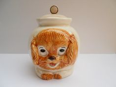 Puppy Cookie Jar made in USA by Treasure Craft
