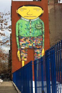 #StreetArt of #Manhattan, NYC. Pasted on the wall of a kindergarten,