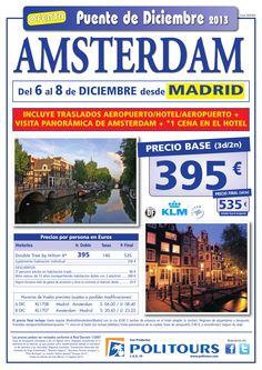 Puente de Diciembre AMSTERDAM, salida 6/12 desde Madrid (3d/2n) precio final 535€ - http://zocotours.com/puente-de-diciembre-amsterdam-salida-612-desde-madrid-3d2n-precio-final-535e-7/