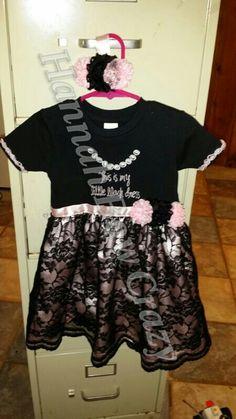 24 -2T my little black dress with hair piece  $40 custum made by Hannah Bow Crazy