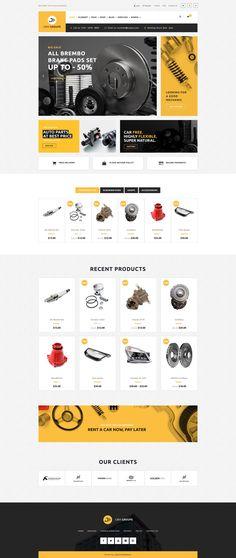 Car Parts Website. Parts Store Online. - Car Parts Website. Parts Store Online. Layout Site, Website Design Layout, Web Design Tips, Web Design Trends, Web Layout, Website Designs, Website Ideas, Car Websites, Vehicle Accessories