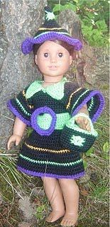 Bizzy Crochet: Fun & Funky Witch Costume-AG Dolls Pattern