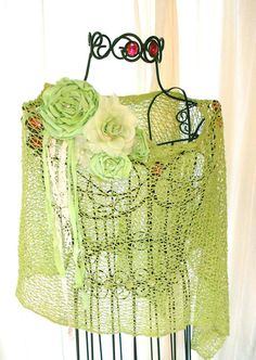 Summer crochet Shawl Shabby chic French Country Wrap