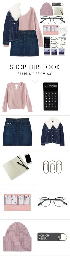 """fall graciously,"" by renyic ❤ liked on Polyvore featuring LEXON, MANGO, Moleskine, Clips, Christian Dior, Acne Studios, Various Projects, Polaroid, fauxfur and librarychic"