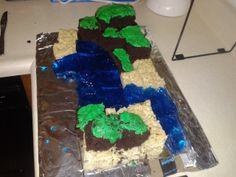 similar image search for post: Homemade Minecraft Cake ...