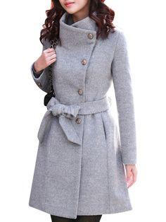 Abrigo de cachemira gris de estilo moderno - Milanoo.com