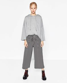 FLOWING CROPPED TROUSERS-Culottes-TROUSERS-WOMAN | ZARA United States