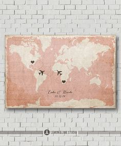 Custom Map Wedding Guest Book World Map Rustic Wedding Guestbook Wedding Poster Unique Destination Wedding Gift Travel Wedding Love Map Art