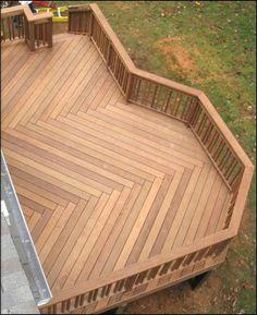 Deck - love the zig zag wood pattern
