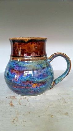Oatmeal over iron lustre Top is Ancient Jasper Glazes For Pottery, Pottery Mugs, Pottery Art, Pottery Wheel, Pottery Painting, Ceramic Painting, Pottery Designs, Pottery Ideas, The Potter's Hand