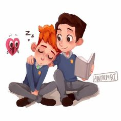 "antnmrt: "" Have more in a heart beat fanart! Jonathan and Sherwin are adorable aaah! Cute Gay Couples, The Fault In Our Stars, Gay Art, Young Boys, Drawing For Kids, Cute Love, In A Heartbeat, Baby Animals, Lesbian"