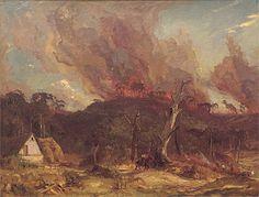 Hans HEYSEN | Bushfire, Hahndorf