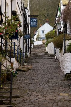Clovelly - View up the Hill, Devon, UK. Not too many miles from where Albertine lives.