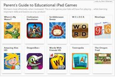 A Parent's Guide to Educational iPad Games – iPads in Education