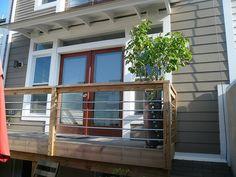 deck railing...I really like this! ***Repinned by Normoe, the Backyard Guy (#1 backyardguy on Earth) Follow us on; http://twitter.com/backyardguy