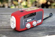 Etón American Red Cross ARCFR160R Microlink Self-Powered AM/FM/NOAA Weather Radio with Flashlight, Solar Power and Cell Phone Charger (Red) by Eton $30.00