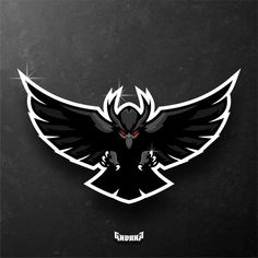 Raven Wing Mascot Logo Personal Design Created By Erde Design Team Logo Design, Logo Desing, Mascot Design, Sport Design, Design Design, Buho Logo, Logo Esport, Hawk Logo, Raven Logo
