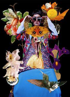 Funky Floral Collage Editorials : Fashion, collage, editorial, eclectic magazine, art danil golovkin, ashkan honavar