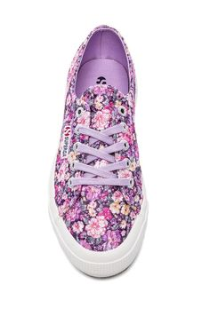 These Superga Sneakers in Flower Multi & Violet are perfect for an afternoon excursion!
