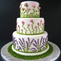 @Kathleen S S DeCosmo ♡♡♡ #Cake Summer Flowers! - still can't find the source for this one, I'll keep looking