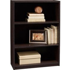 3 Shelf Bookcase Storage Furniture Bookshelf Bedroom Wood Adjustable Espresso #1