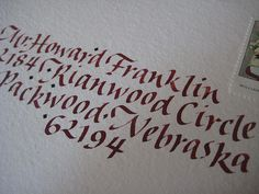 by Cheryl Dyer Calligraphy & Hand Lettering, via Flickr