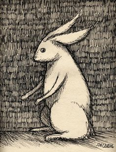 'a drawing of a rabbit' by Jon Carling shared on Twitter #sketchbook ♥≻★≺♥