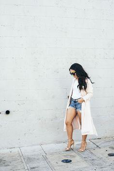 Trench Coat + Denim Shorts By Im Lvh