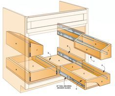 Organize Your Cabinets! Build These Rollout Under-Sink Storage Trays Organize Your Cabinets! Build These Rollout Under-Sink Storage Trays . Kitchen Sink Storage, Under Sink Storage, Kitchen Redo, Diy Storage, Diy Organization, Storage Ideas, Extra Storage, Kitchen Sinks, Cabinet Storage