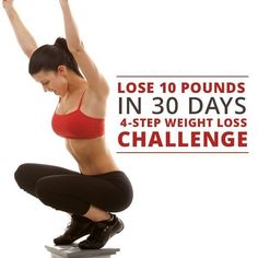 Lose Up to 10 Pounds in 30 Days - 4 Step Weight Loss Challenge #weightloss #challenge #lose10pounds (Step Sport Weight Loss)