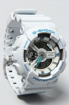 The GA-110SN Watch in White by G-SHOCK sexy g-shock www.karmaloop.com use rep code: olive for 20% off