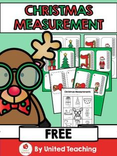The Christmas Measurement center provides children with the opportunity to practice measuring Christmas objects using units of measurement. The activity contains 6 colorful measuring cards and a worksheet for recording answers. This is a great math center Christmas Math, Preschool Christmas, Christmas Activities, Preschool Activities, Christmas Time, Kindergarten Centers, Math Centers, Math Measurement, Measurement Activities