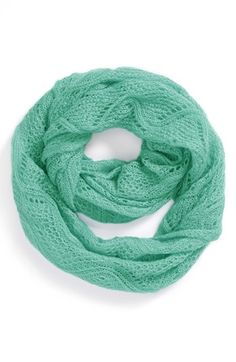 BP. Pointelle Infinity Scarf (Juniors) available at #Nordstrom -color green waterfall or black