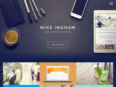Mike Ingham. Site built with Bootstrap.