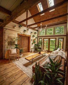 Barn House Design, Dream Home Design, My Dream Home, Cozy Cabin, Cozy House, Cabin Tent, Cabin Interiors, Style Deco, Cabin Homes