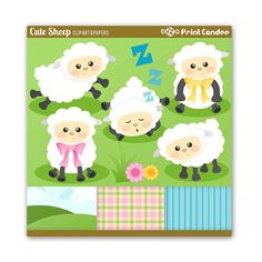 Cute Sheep  Digital Clip Art  Personal and by printcandee on Etsy, $4.75