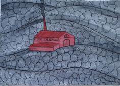 Patrimonio Industrial Arquitectónico: Mis dibujos industriales. Microcuento Industrial.