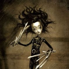 Edward Scissorhands by Benjamin Lacombe