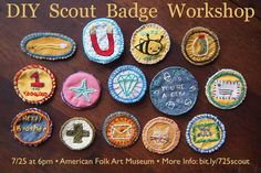 Make It Thursday Scout Badge Workshop at the American Folk Art Museum on 7/25. See you there!