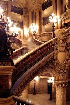 """Palais Garnier, Paris. """"Setting for The Phantom of the Opera."""""""