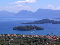 Shipping magnate Aristotle Onassis married Jackie Kennedy on Skorpios, his private island off the coast of Greece, seen here in the distance.