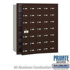 Visit The Home Depot to buy Salsbury Industries 3600 –Series Private Front Loading 10 B Doors usable) Plus Horizontal Mailbox in Bronze Cluster Mailboxes, Commercial Mailboxes, Security Mailbox, Continuous Hinges, Video Installation, Aluminium Doors, Home Safety, Panel Doors, New Construction