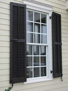 Wood Window Shutters Exterior Louvered Exterior Shutters For Outside ...