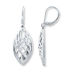 Diamond Earrings 1/10 ct tw Round-cut Sterling Silver