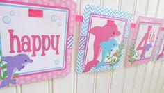 Fête d'anniversaire imprimable Dauphin rose Favor par ciaobambino