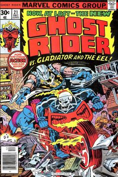 """Ghost Rider #21 (1976) """"Deathplay!"""""""